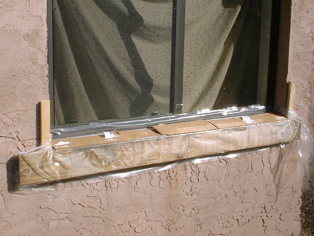 Replacement of window sill on block exterior wall kurt 39 s blog - Painting window sills exterior set ...