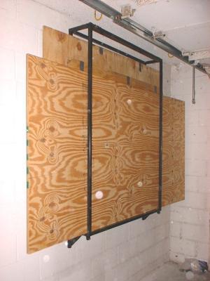 Custom Wall Mounted Hurricane Plywood Storage Rack Kurt
