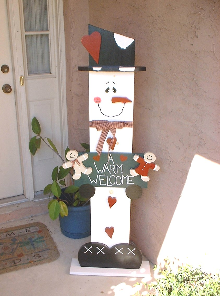 Plywood kurt 39 s blog - How to make a snowman out of wood planks ...