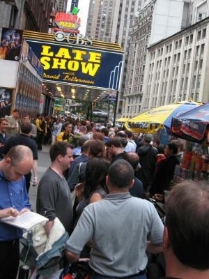 Line for Letterman show