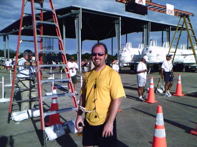Kurt after his first 5K race