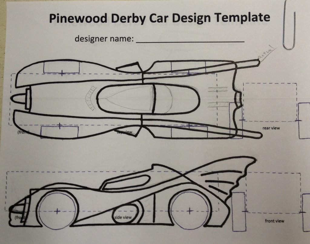 Punchy image in free pinewood derby templates printable