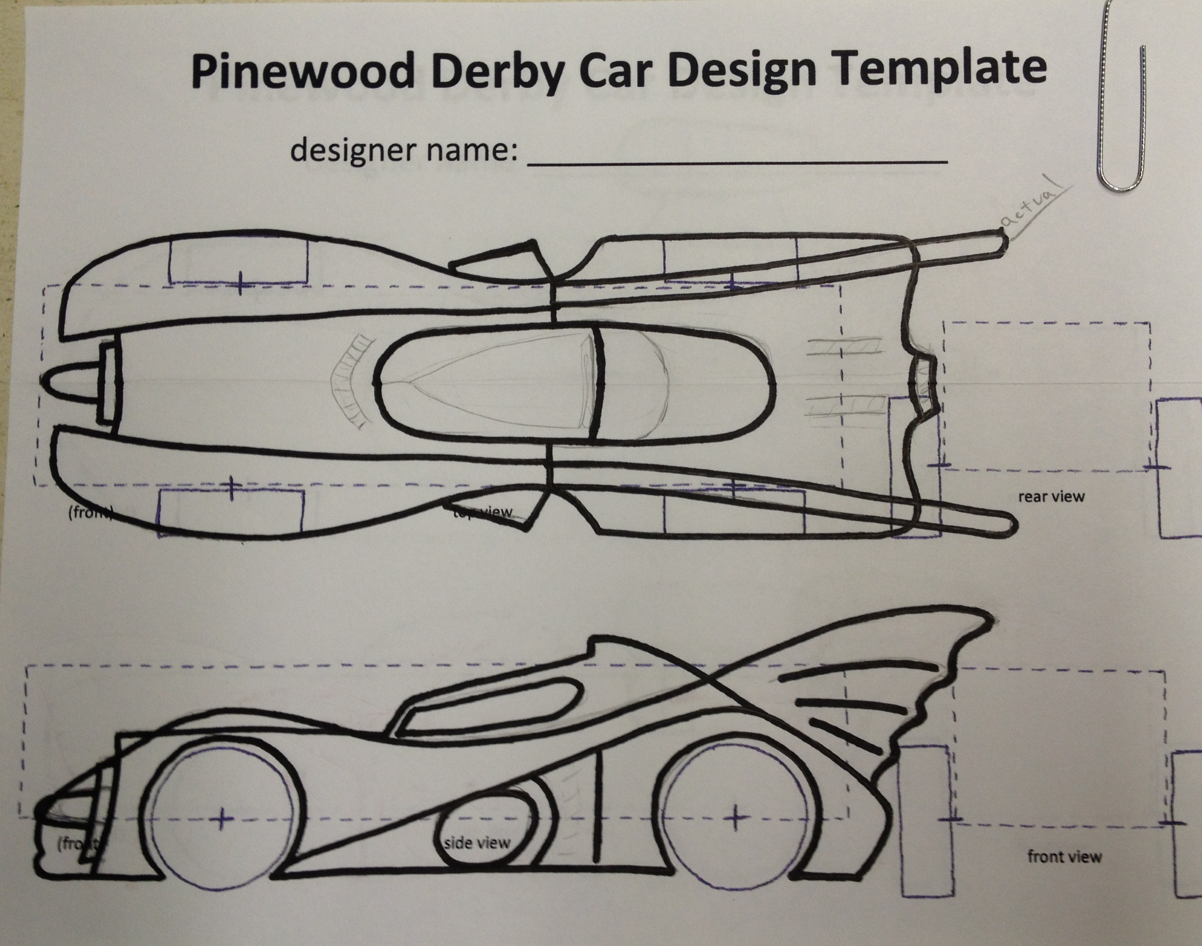 This is a picture of Fan Pinewood Derby Car Templates Printable